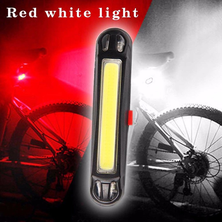 COB LED USB Rechargeable Rear Bike Light Bicycle Tail Lamp 100lm Cycling Safety