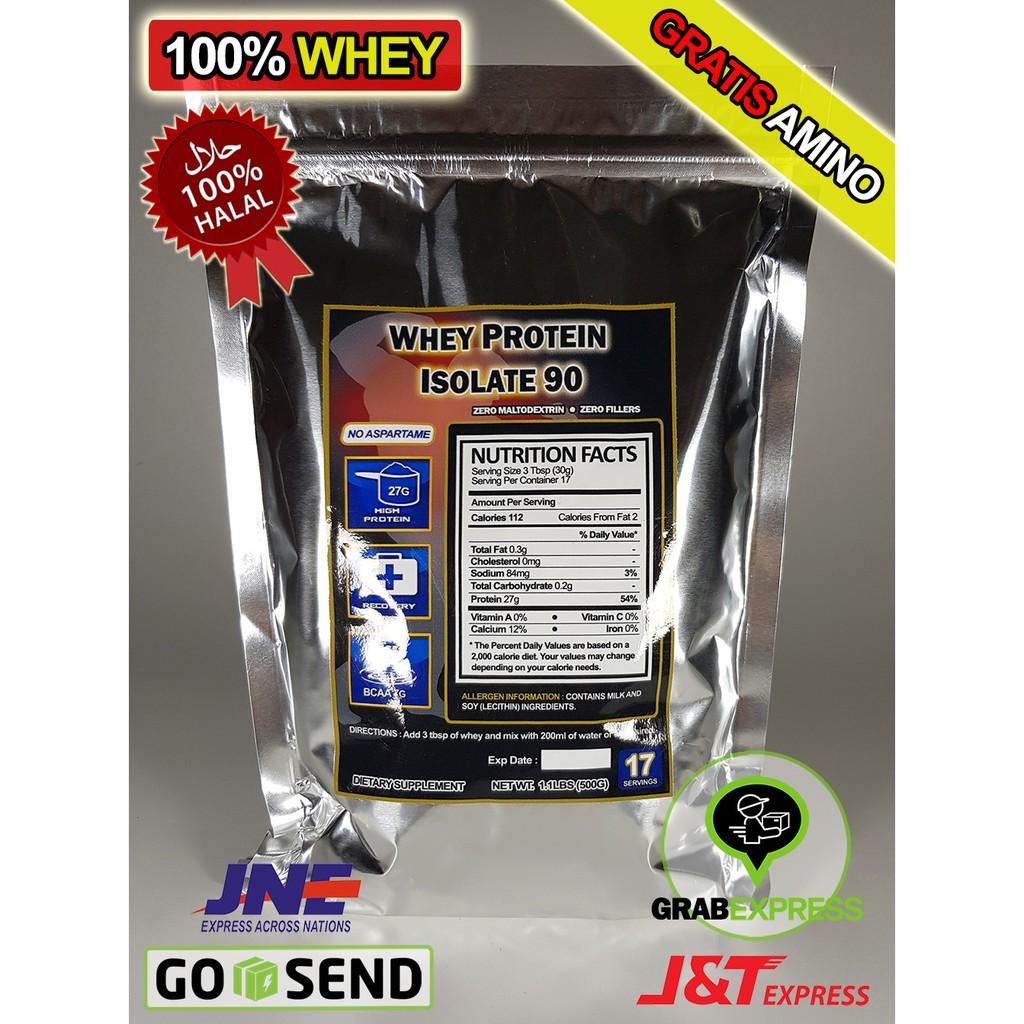 Whey Protein Isolate Wpi 90 100 Gratis Amino Susu 500gr Shopee Indonesia