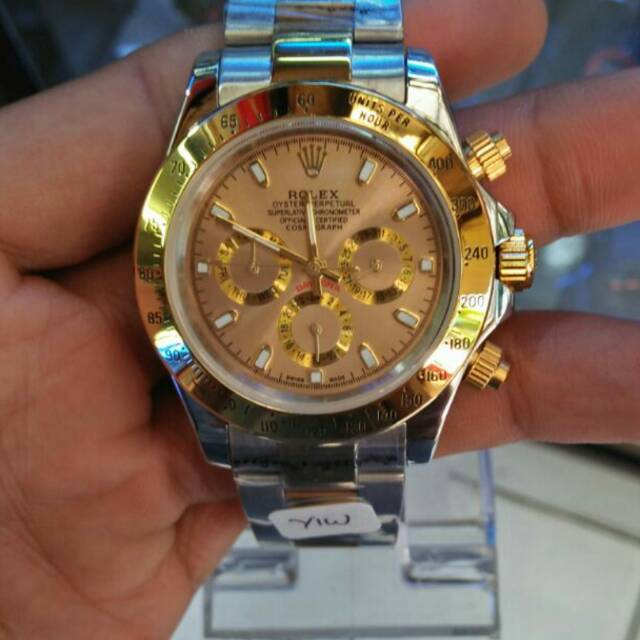 Jam tangan pria rolex automatic chrono kw super