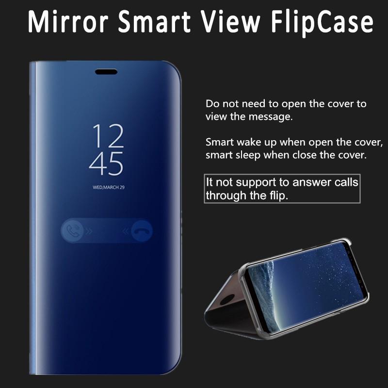 Smatton Samsung Galaxy S6 Edge For Luxury Smart Clear View Mirror Flip Stand Case | Shopee Indonesia