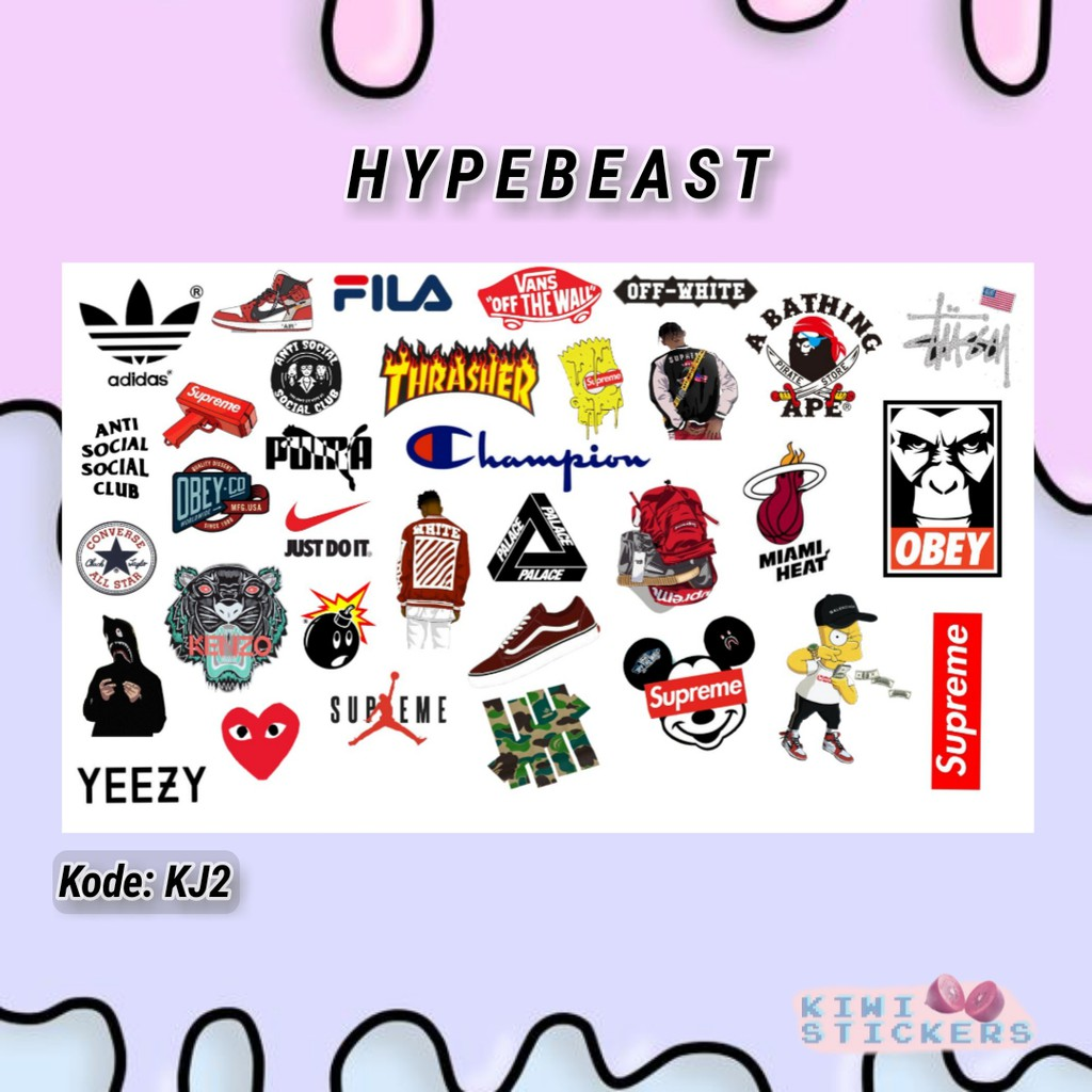 Hypebeast sticker tumblr shopee indonesia