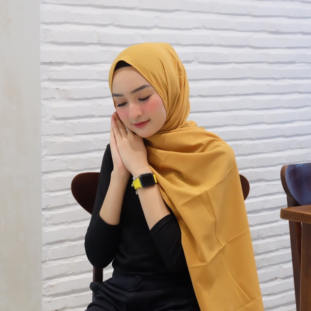 Kesy Diamond Mustard Pasmina Shopee Indonesia
