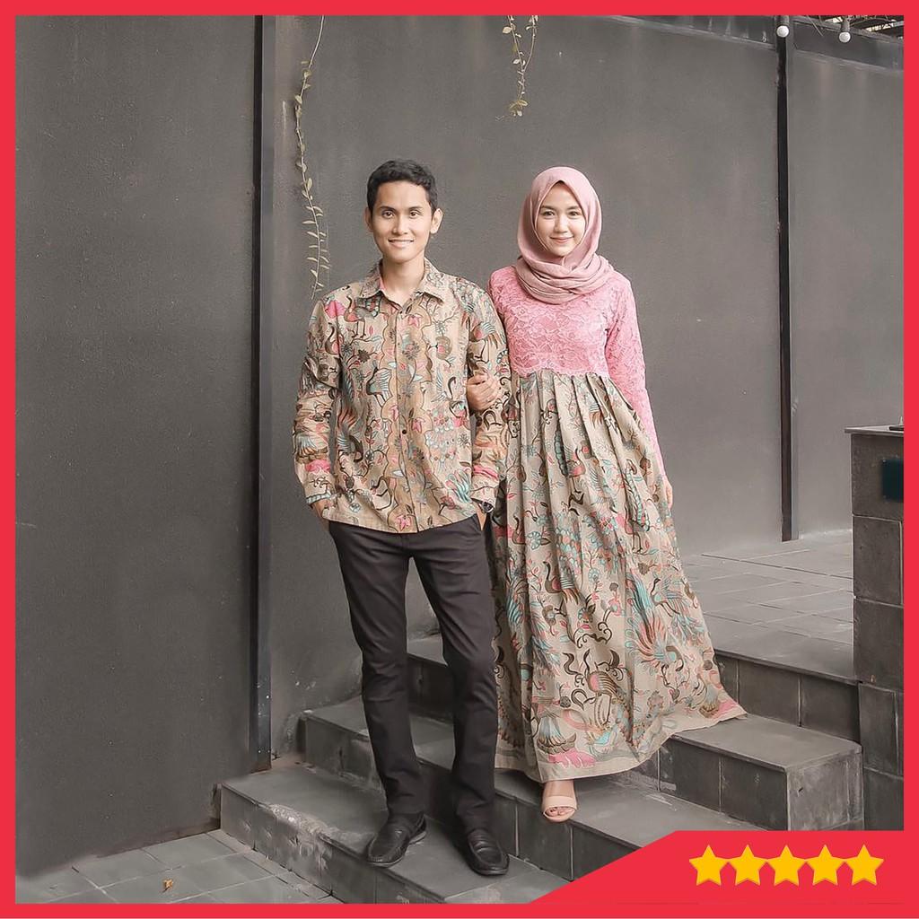 Couple Kebaya Modern Sarimbit Batik Kekinian Modis Murah KAMARATIH COUPLE  MODERN WISUDA GAMIS SOLO