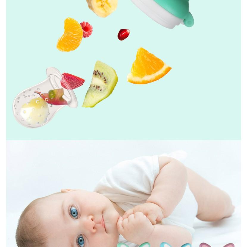 Dot Gigit Bayi Suplemen Makanan Daging Sayuran Dan Buah-buahan Bahan Silikon Untuk Pengumpan Makanan