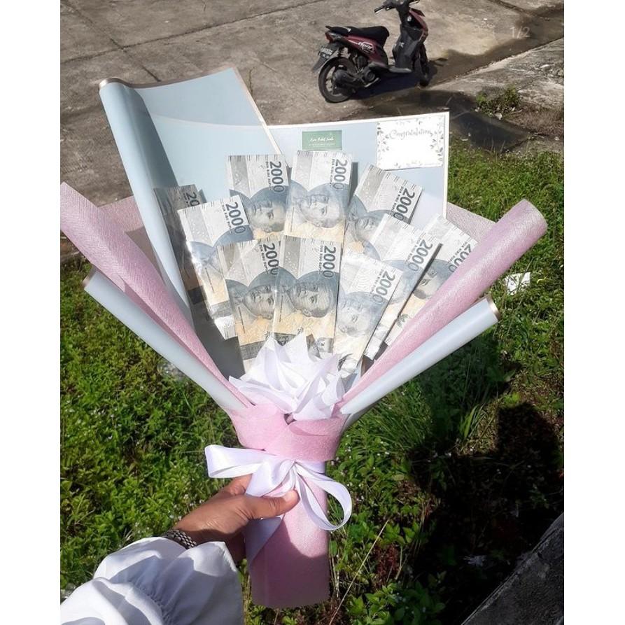 Buket uang 10 lembar (jasa wrraping)