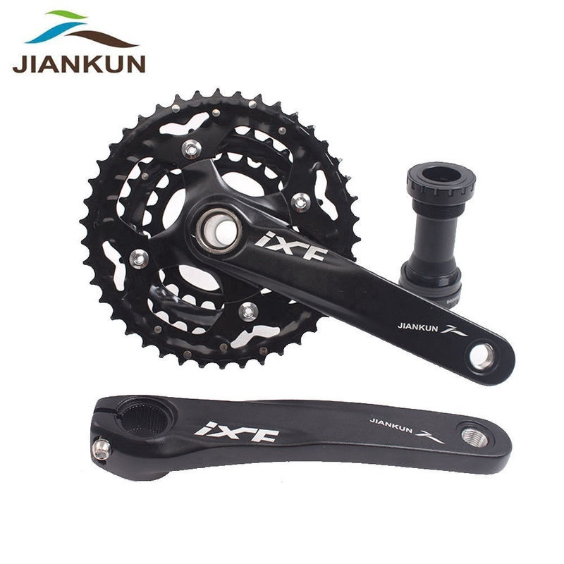 3X10S Triple Speed Crankset BB 104bcd Crank MTB Bike Chainring 24//32//42T Alloy