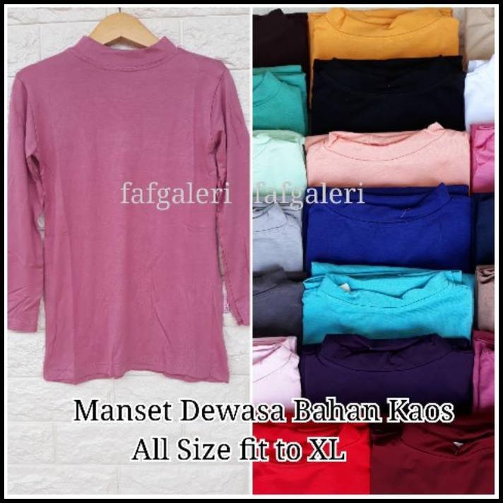 Manset Dewasa kaos All size Baju Atasan Wanita Bahan Kaos Baju Muslim  Muslimah  51cdc624a1