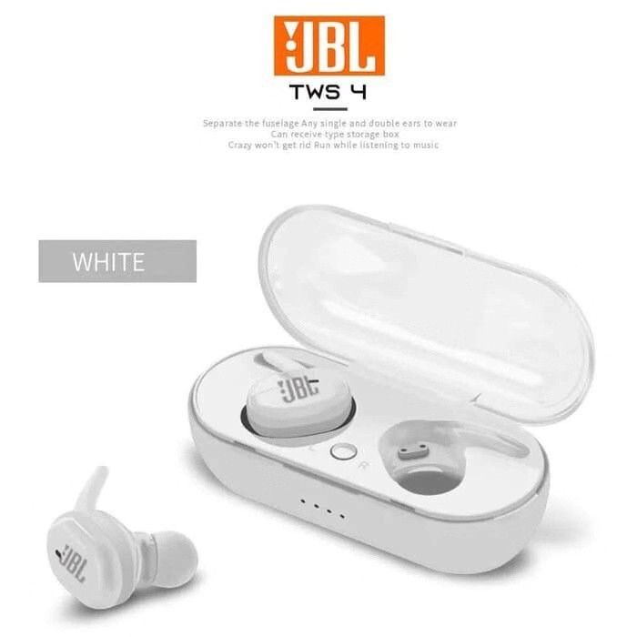 Ready Jbl Tws 4 Bluetooth Wireless Headset Iphone Android Shopee Indonesia