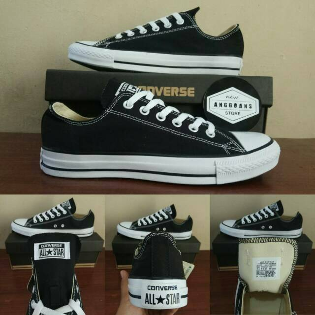Sepatu Converse CT All Star Grey Abu Abu White Putih OX Low - Original  PREMIUM Made Iin Vietnam  bd368c4fc3