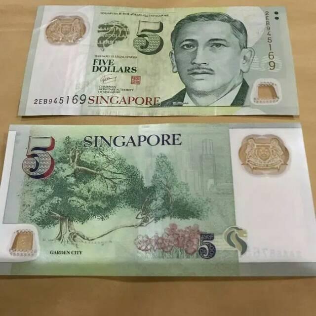 Singapore Dolar Pecahan 5 Uang Asli Shopee Indonesia