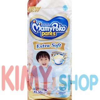 Popok Celana Bayi MamyPoko Pants Extra Soft XL 30 Boy Mamy Poko XL30 Boy   Shopee Indonesia
