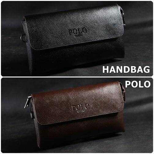HB1168 - Handbag Tas Tangan Pria Wanita POLO Dompet Tangan Clutch Bag  1ff8a90cbe374