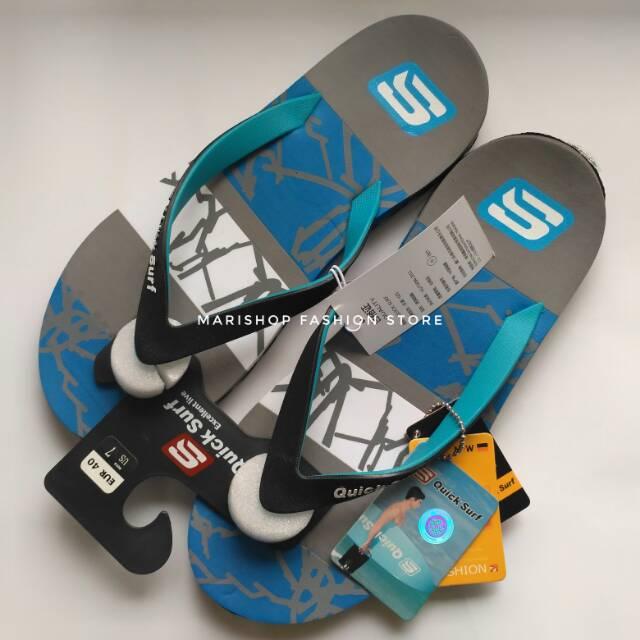 Sandal Jepit Pria Outdoor Original Import Sandal Pria Wanita Distro Surfing  Sandal Branded Quicksurf fc879665f4