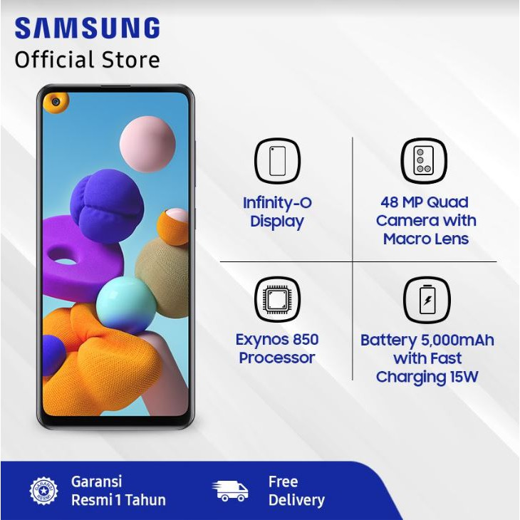 Samsung Galaxy A21s 6 64 Gb Black Shopee Indonesia