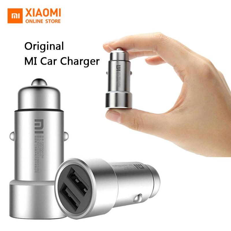 Xiaomi Original Charger Mobil Universal Bahan Metal dengan Port USB Ganda 3.6A Max