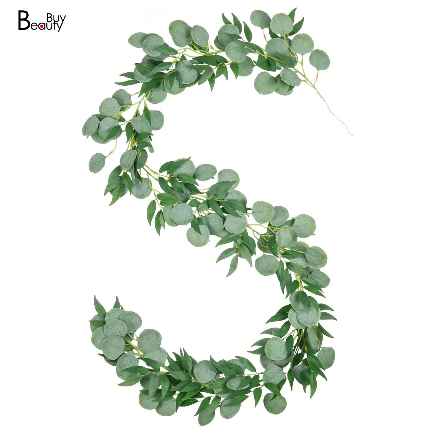 Beautybuy 6 56ft Artificial Silver Dollar Eucalyptus And Willow Leaves Vines Hanging Leaf Garland For Garden Wall Decoration Shopee Indonesia