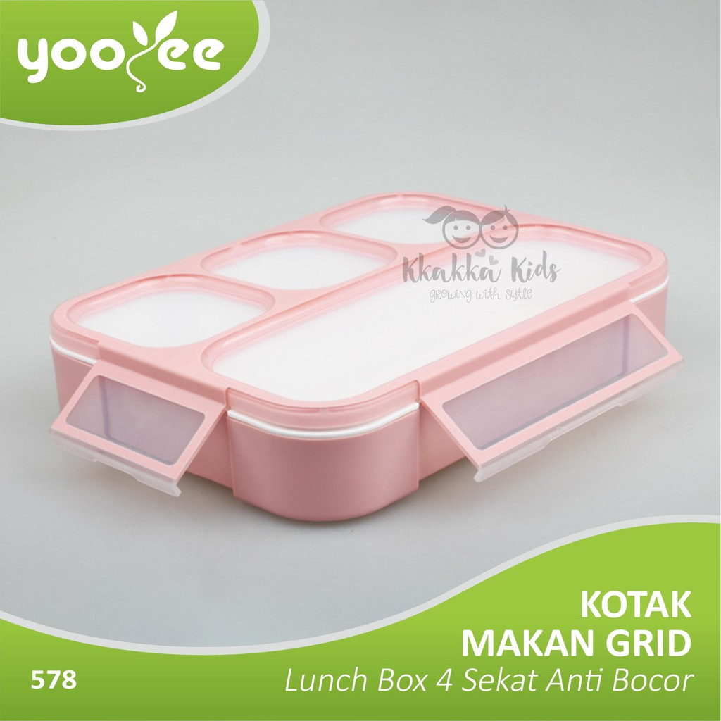 Kotak Makan Lunch Box Tempat Yooyee 4 Sekat Bento Shopee Sup Indonesia