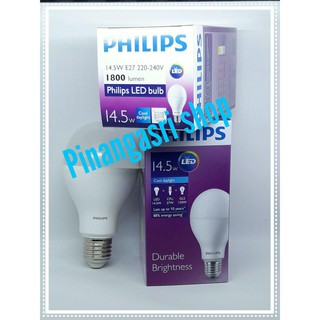 Lampu LED bulb Philips 14 watt 14w Philip Putih 14.5 w Bulb LED 14watt Pengganti 16w 16 w 18 watt