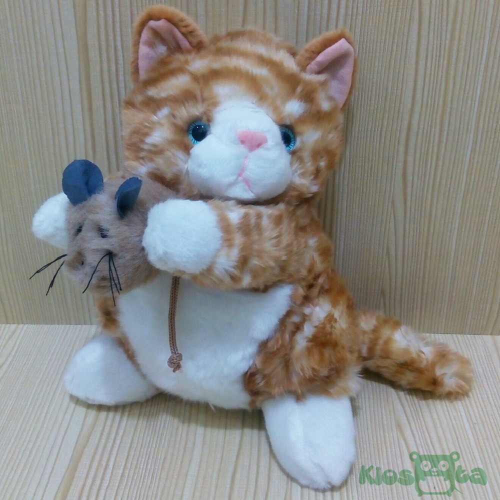 boneka yellow cat kucing kuning standing baby toy  dde7473fab