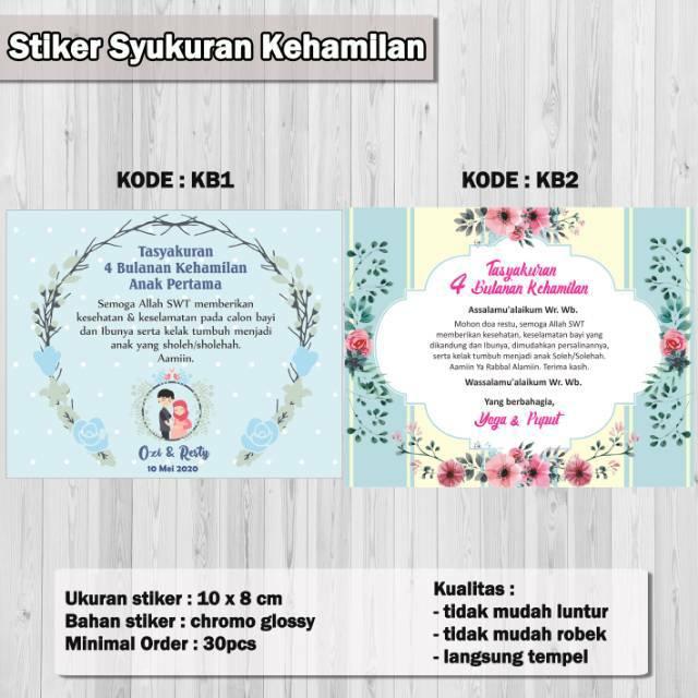 Stiker Label Syukuran Kehamilan Shopee Indonesia