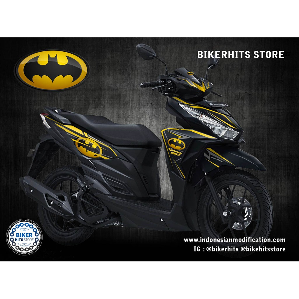 Stiker decal honda vario 150 125 esp full body striping batman
