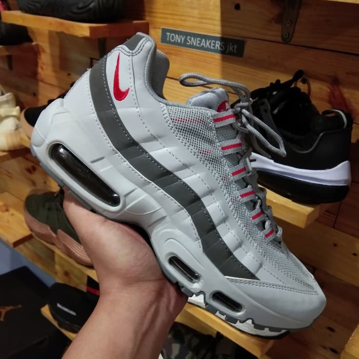 49a3c9b72fc Sepatu Nike Air Max 95 Triple Silver Grey Premium