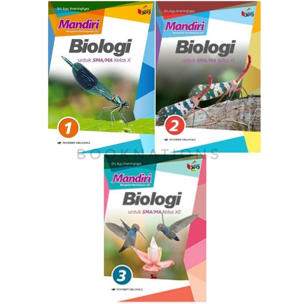 Buku Sma Mandiri Biologi Kelas 10 11 12 Erlangga Shopee Indonesia