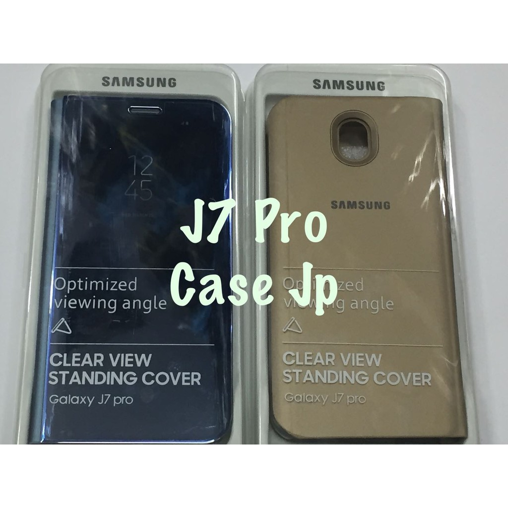 new concept 2f498 e8f48 Clear View Standing Cover For Samsung Galaxy J7 Pro Flip Mirror