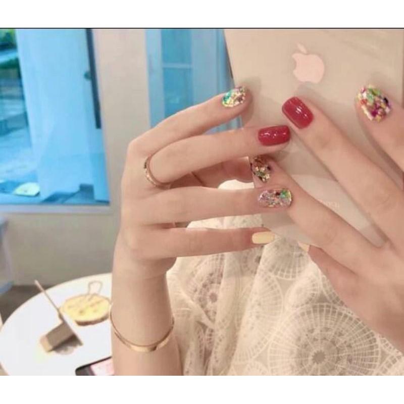 Kuku Palsu Red Blink Mewah Fake Nails Simple Nailart Murah Isi 24 Pcs Shopee Indonesia