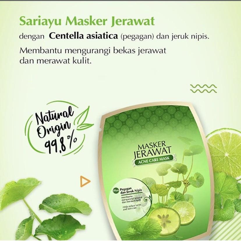 Masker Jerawat Sariayu Pegagan Dan Jeruk Nipis