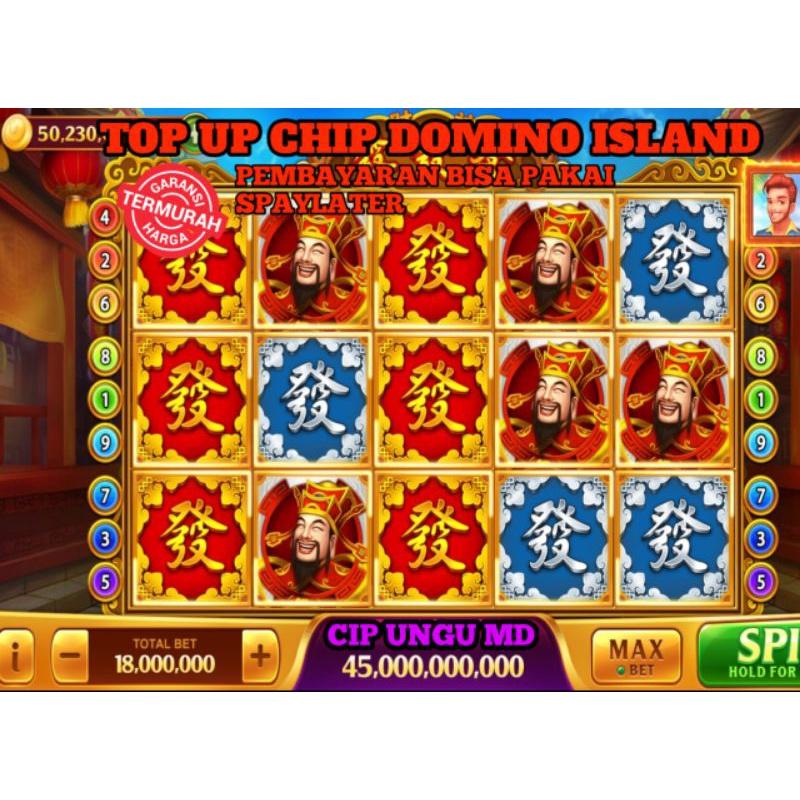 COIN CIP DOMINO HIGGS ISLAND/ CHIP MD UNGU CHIPS DOMINO ISLAND