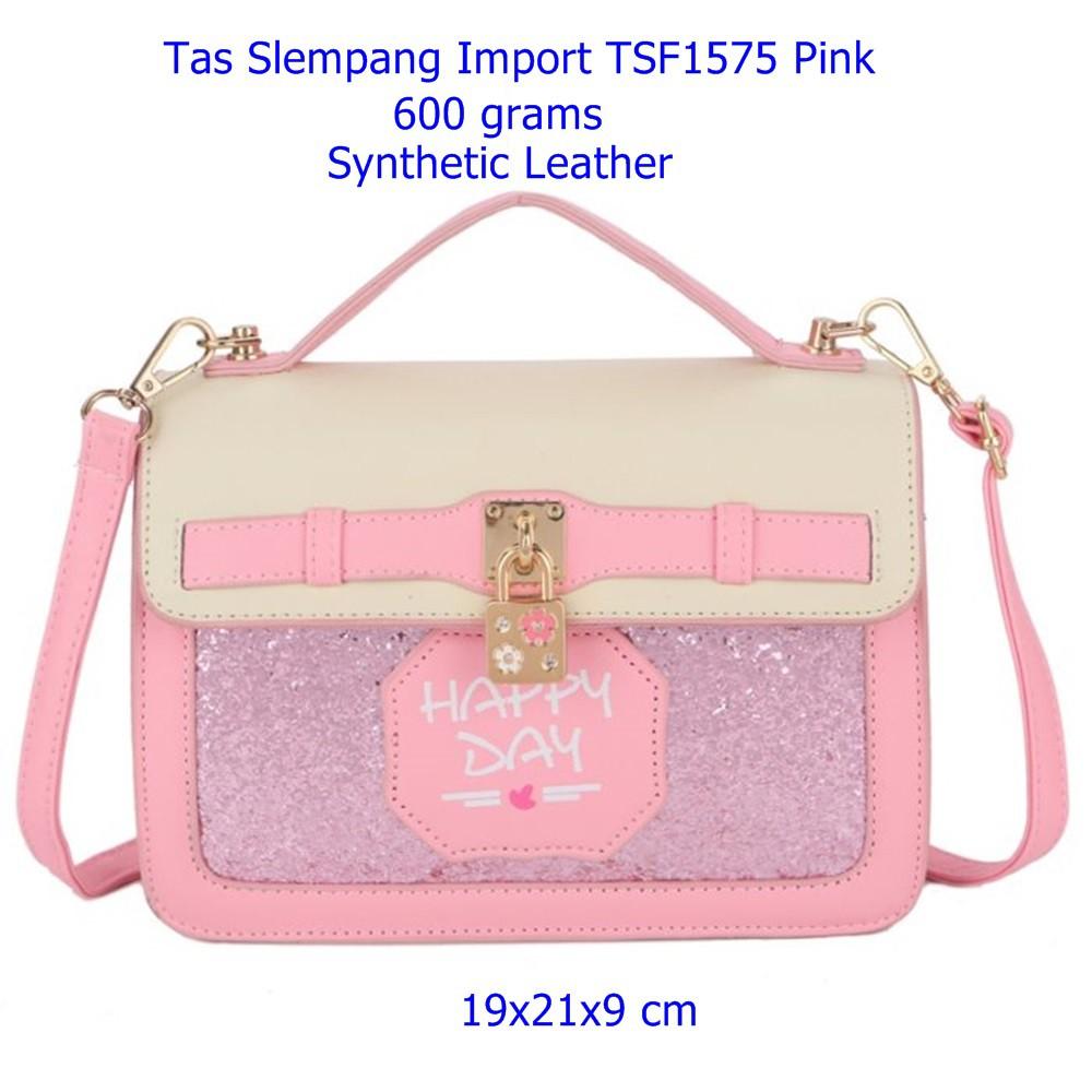Tas Slempang Wanita Smk21914sn Gray Slingbags Cewek Tali Import Panjang Selempang Shopee Indonesia