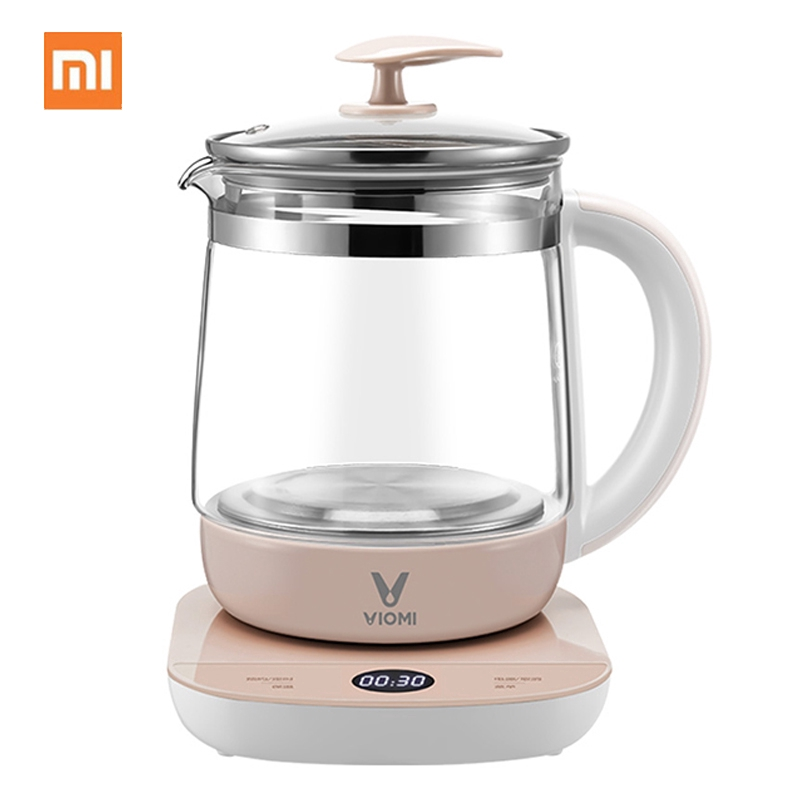 Youpin viomi Health Electric kettle 1.5L Multifunction Timing Insulation Cooking Kettle Glass Electric Tea Pot Water Kettle