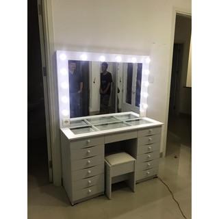 Meja Rias Vanity Mirror Meja Makeup Murah Rak Make up ...
