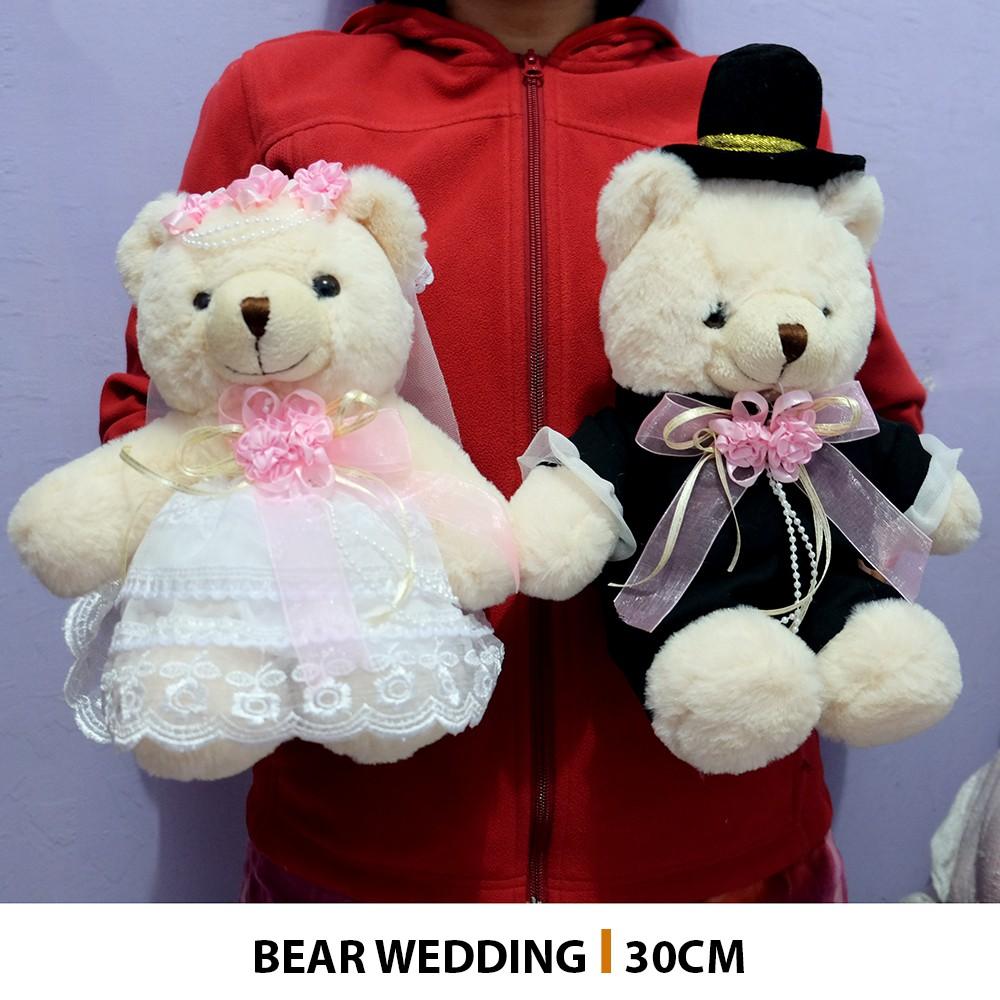 Boneka teddy bear couple klasik harga satuan beruang teddy lucu kado ultah | Shopee Indonesia