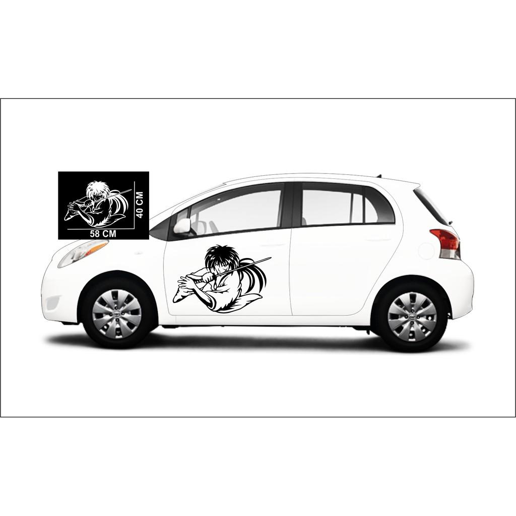 Termurah Cutting Sticker Mobil Stiker Motif Keren Sticker Animasi Samurai Shopee Indonesia