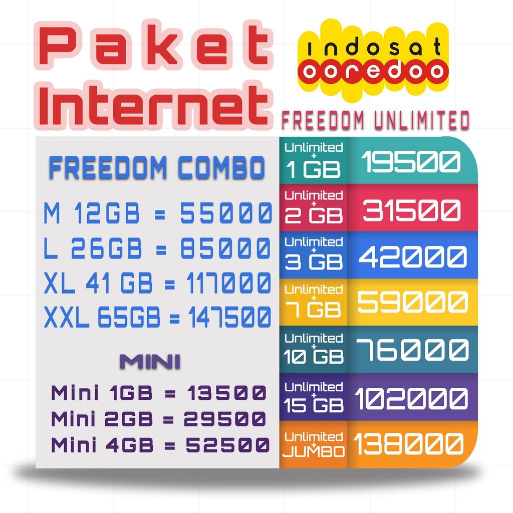 Promo Indosat Internet Mini Yellow Unlimited Shopee Indonesia Voucher 2 Gb
