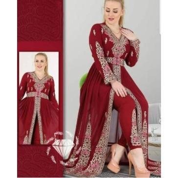 Baju Gamis Muslim Terbaru 2021 2022 Model Baju Pesta Wanita kekinian Bahan Brokat Kondangan remaja