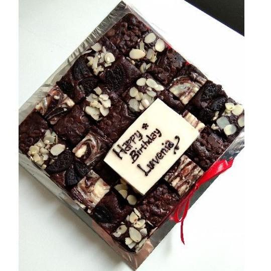 BROWNIES ULANG TAHUN (birthday brownies)