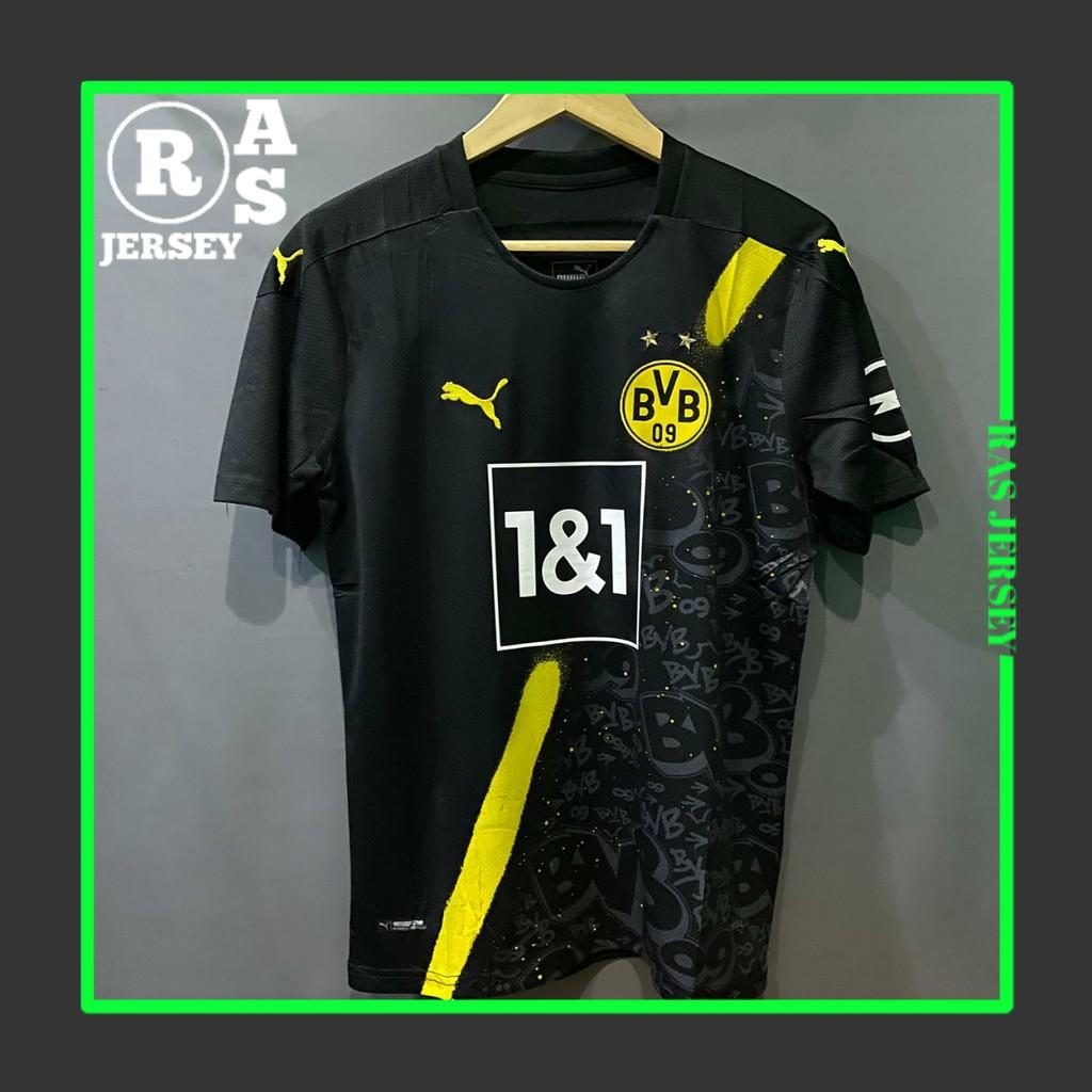 Jersey Dortmund Away New 2020 2021 Jersey Go High Quality Bvb Away Terbaru Shopee Indonesia