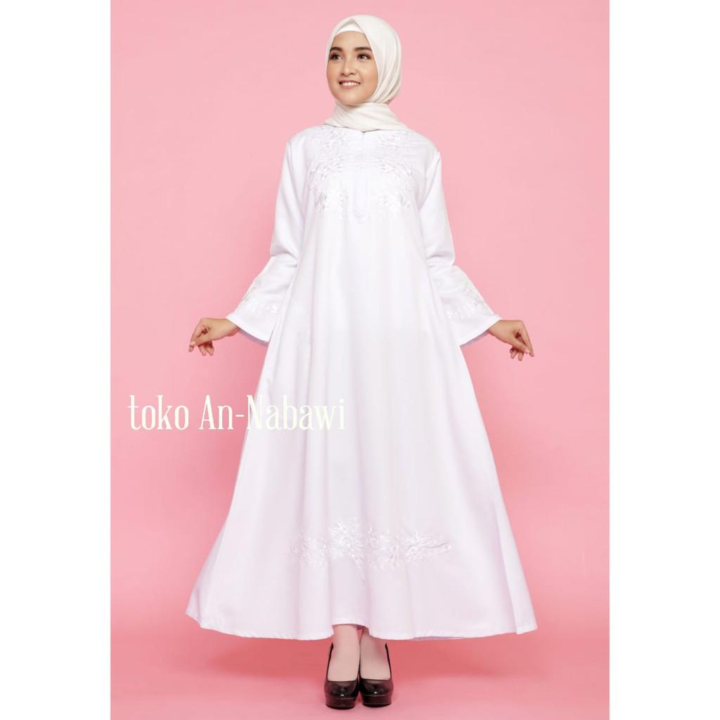 baju ihrom wanita - gamis haji - gamis umroh - perlengkapan haji wanita -  gamis putih