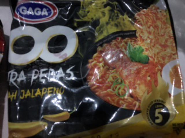 Mie Gaga 100 Extra Pedas Kekinian Jalapeno / Soto / Lada