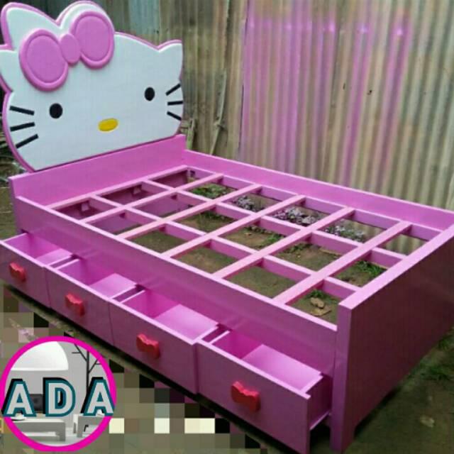 Tempat Tidur Anak Hello Kitty 214 Shopee Indonesia