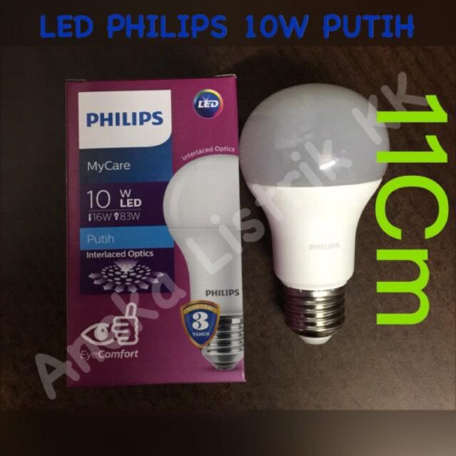 Lampu Led Philips 10w Putih White Promo Termurah Philips 10watt 10 W Cool Daylight Bergaransi Shopee Indonesia