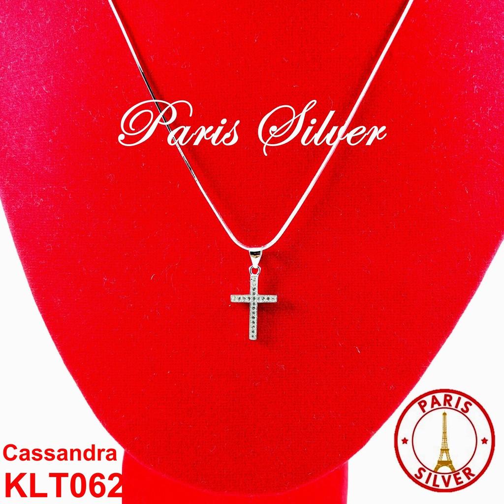 Kalung Salib besar Silver Perak 925 lapis emas putih wanita pria Itali KLT008 | Shopee Indonesia