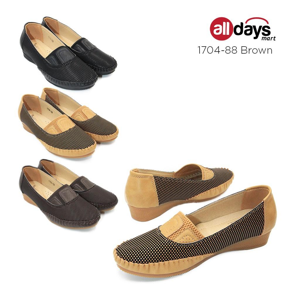 Dea Sepatu Flat Wanita 1704 88 Brown Shopee Indonesia Sandal Wedges Mr91 Cream