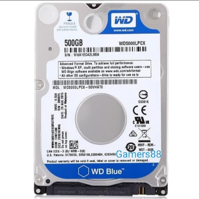 Hdd Wdc 500gb Blue Internal 2 5 Notebook Laptop Hardisk Wd 500gb Shopee Indonesia