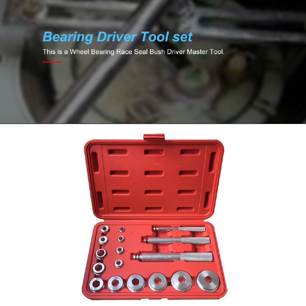 Bearing Race+Seal Driver Master Set Wheel Axle Puller Aluminum Tool kit w//case B
