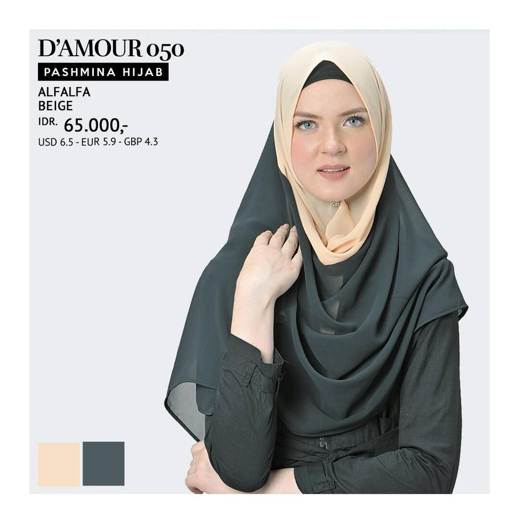 Tatuis Hijab Damour 054 Peach Lightbrown Shopee Indonesia 071 Grey