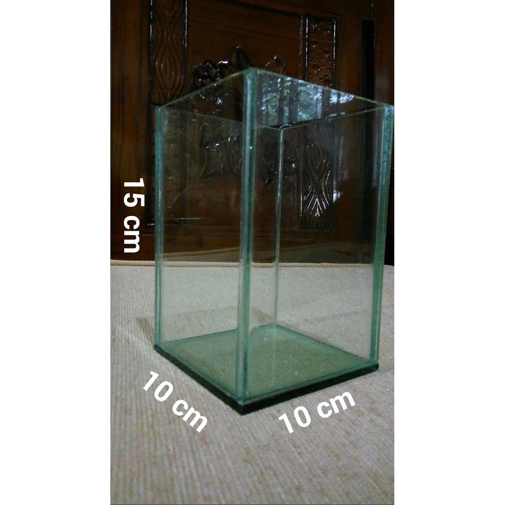 Aquarium Ikan Cupang Akuarium Cupang Soliter 10x10x15 Cm 10 X 10 X 15 Cm Gelas Pot Shopee Indonesia